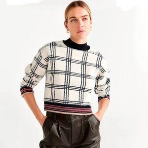 MANGO Checks knitted sweater